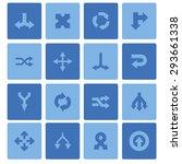 arrow icons set | Shutterstock .eps vector #293661338