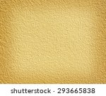 Gold Plaster Wall Background.
