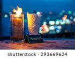 reserve sign at the rooftop... | Shutterstock . vector #293669624