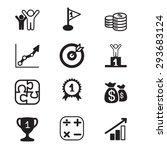business goal concept | Shutterstock .eps vector #293683124