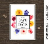 wedding invitation card with... | Shutterstock .eps vector #293684804