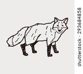 fox doodle | Shutterstock . vector #293684858