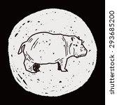hippo doodle | Shutterstock . vector #293685200