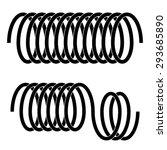 vector tension spring black... | Shutterstock .eps vector #293685890