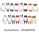 standing and sitting cats and... | Shutterstock .eps vector #293685950