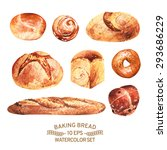 vector set of baking in... | Shutterstock .eps vector #293686229