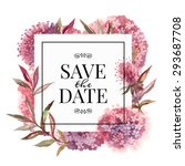 wedding invitation card with... | Shutterstock .eps vector #293687708
