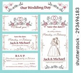 wedding invitation  thank you... | Shutterstock .eps vector #293696183