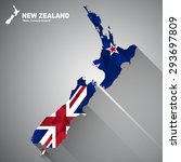 new zealand flag overlay on new ... | Shutterstock .eps vector #293697809