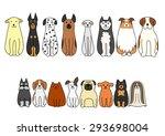 sitting dogs | Shutterstock .eps vector #293698004