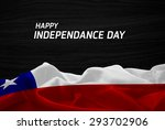 happy independence day chile... | Shutterstock . vector #293702906