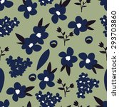 floral fashion seamless pattern | Shutterstock .eps vector #293703860