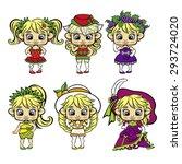 fruity girls   Shutterstock .eps vector #293724020