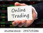 online trading. trading concept. | Shutterstock . vector #293725286