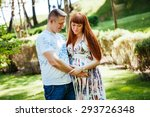 beautiful pregnant couple in... | Shutterstock . vector #293726348