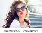 Постер, плакат: Young attractive woman face