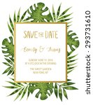vintage wedding invitation with ... | Shutterstock .eps vector #293731610
