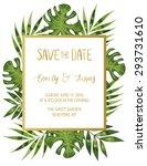 vintage wedding invitation with ... | Shutterstock .eps vector #293731610