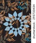 seamless  flower illustration ...   Shutterstock .eps vector #293733434
