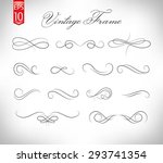 vintage elements and page... | Shutterstock .eps vector #293741354