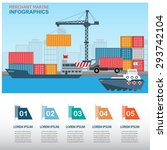 sea transportation and logistic ... | Shutterstock .eps vector #293742104