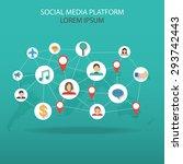 mobile connection social media... | Shutterstock .eps vector #293742443