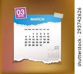 calendar 2016 march vintage...   Shutterstock .eps vector #293742626