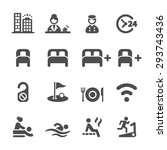 hotel service icon set  vector... | Shutterstock .eps vector #293743436