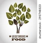 vegetarian food design  vector... | Shutterstock .eps vector #293748323