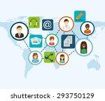 social media design  vector...   Shutterstock .eps vector #293750129