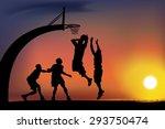 basketball game | Shutterstock .eps vector #293750474