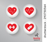 set heart healthy | Shutterstock .eps vector #293750564