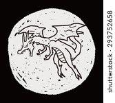 dragon doodle | Shutterstock . vector #293752658