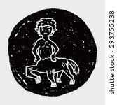 centaur doodle | Shutterstock . vector #293755238