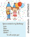 birthday invitation design ... | Shutterstock .eps vector #293756063