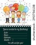 birthday invitation design ... | Shutterstock .eps vector #293756138