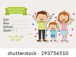 birthday invitation design ... | Shutterstock .eps vector #293756510