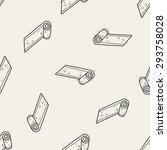 yoga mat doodle seamless... | Shutterstock . vector #293758028