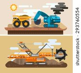 machines for digging caves.... | Shutterstock .eps vector #293760554