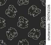 dog doodle seamless pattern... | Shutterstock . vector #293761136