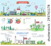 flat line infographic plant... | Shutterstock .eps vector #293761178