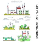 flat line infographic plant... | Shutterstock .eps vector #293761184