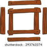 Cartoon Wooden Frame