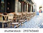 empty tables in between dining... | Shutterstock . vector #293765660