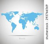 world map | Shutterstock .eps vector #293766569