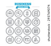 business linear icons set.... | Shutterstock .eps vector #293769074
