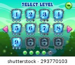 level selection screen  vector...