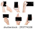 hand hold white modern smart... | Shutterstock . vector #293774108