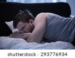 man suffering from insomnia... | Shutterstock . vector #293776934