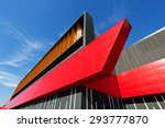 details of aluminum facade with ... | Shutterstock . vector #293777870